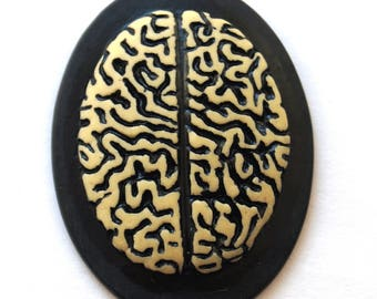 Cabochon cameo Gothic brains (29x38mm)