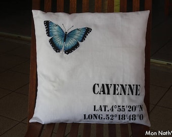 Embroidered decorative cushion