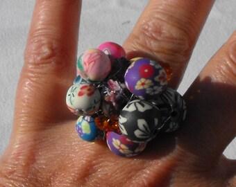 ring setting comfort pearls fimo BAG.0757