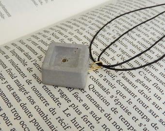 Creative concrete necklace * gold foil