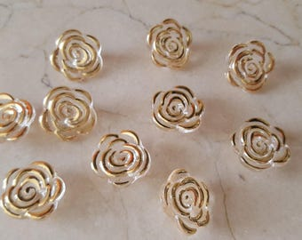 """set of 10 buttons flowers 15 mm """"Crystal"""" high fashion"""