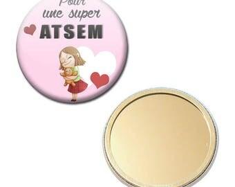 Mirror Pocket Badge 56 mm - for a great pre-school kindergarten kids gift