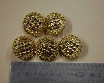 Golden, sewing and embellishment buttons