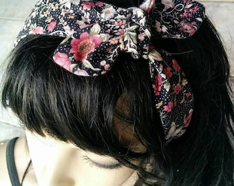 Headband made of 100% cotton printed fabric