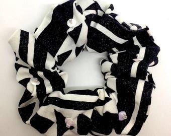 Glitter printed scrunchie