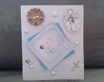 communion boy congratulations card