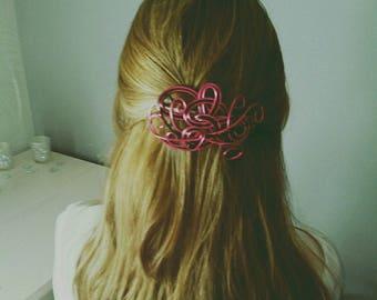 Barrette hair clip 8 x 9 aluminum