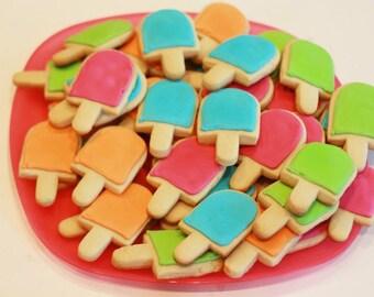 Popsicle Cookies, Decorated Cookies