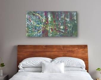24 x 48 Large Abstract Painting - Original Art - Farflung Confetti