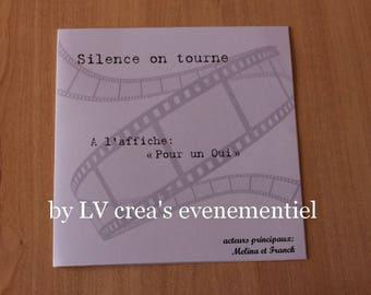 personalized movie theme invitation