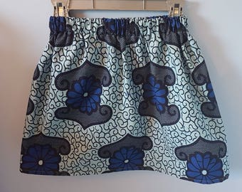 Pretty skirt African fabric 6, 7, 8, 9 years old girl