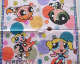 25 napkins cartoon POWER PUFF GIRLS REF. 128