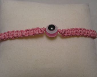 """the bracelet """"Pink Nazar"""" Creat'Y. O.N - pink & simple."""