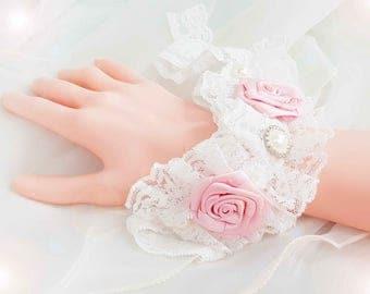 White lace Cuff Bracelet