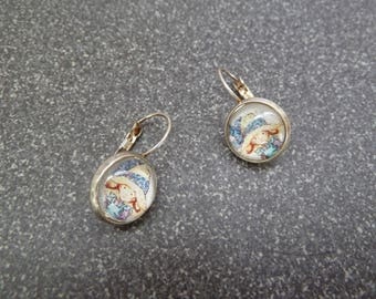 "Earrings sleepers ""Redhead"""