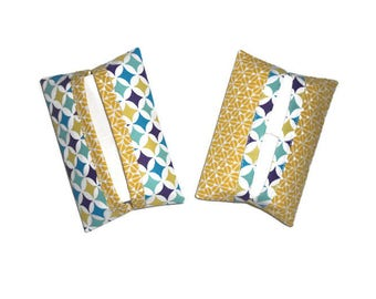 Other Pocket tissue, yellow, blue and purple tones