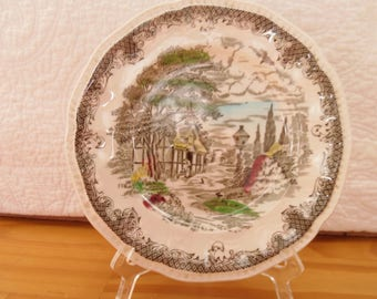 VINTAGE  SHAKESPEARE'S SONNETS Ironstone Bread & Butter Plates