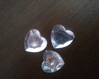 Applique heart transparent glue