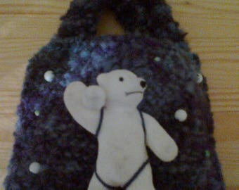 BAG HAS FASHION WITH FELT STITCHED FOR LITTLE GIRL BEAR.