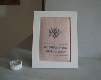 """Simple Things"" cross stitch Embroidery"