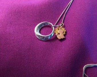 Disney inspired lion king necklace- haukuna matata