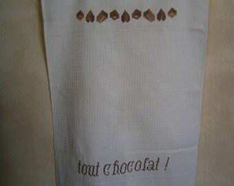 "Tea towel ""All chocolate!"""