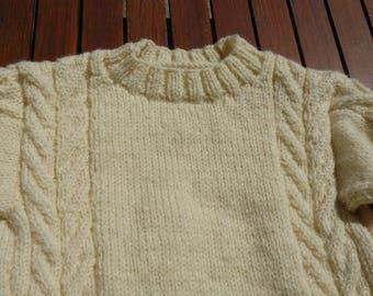 Ecru sweater kids 4/6 years