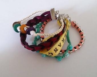 Bracelet 5 rows hipa style