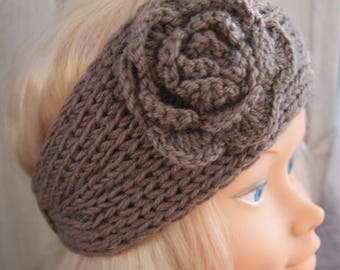 a pretty chocolate colored wool headband