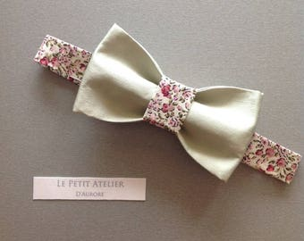 Adjustable silk and cotton bow tie