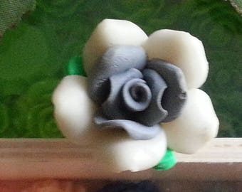 Mixed flowers beads polymer clay, 26 ~ 38 x 26 ~ 38 x 13 ~ 15 mm, hole: 2 mm