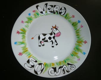 plate with design personalized with your choice + personal message