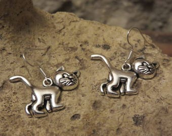 """Silver earrings """"collection cat"""""""