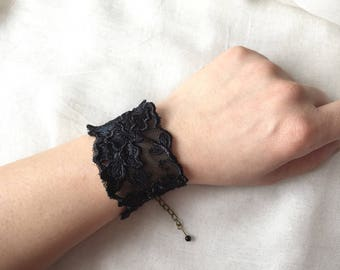 Vintage Black Lace bracelet