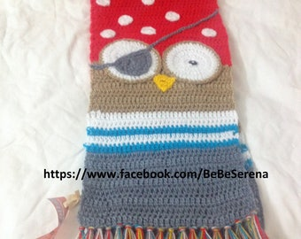 The little OWL scarf pirate hook