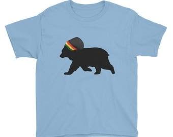 Rasta Bear Youth & Kids Short Sleeve T-Shirt