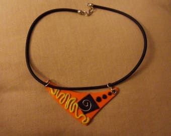 JEWELRY WITH POLYMER CLAY ORANGE AND YELLOW