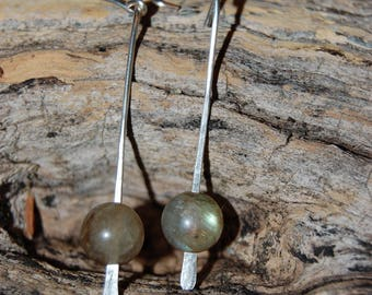 "Earrings ""rain"", labradorite bead"