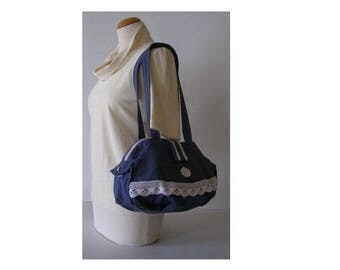 Bag * Jean Dentelle * - cotton - Romantic fantasy