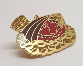Red Dragon Pin Enamel Lapel Pin
