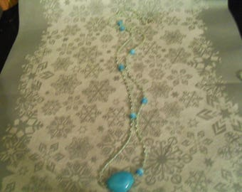beautiful unique and original necklace turquoise and white