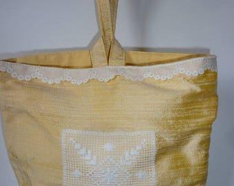 Model 1 SOY silk evening bag