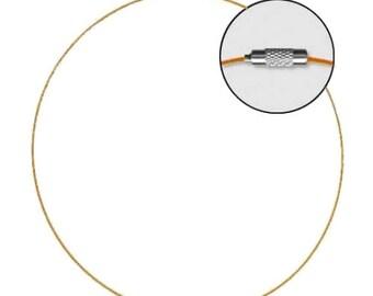 Choker cable clasp screw 45 cm - orange