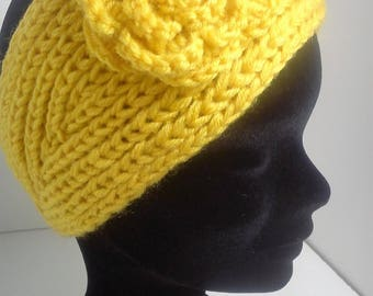 Yellow ear warmer headband