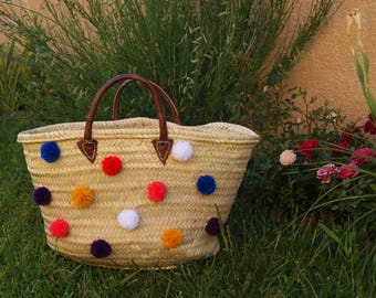 Straw Tote customized with tassels