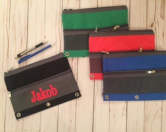 Personalized pencil pouch for boys, boys pencil case, pencil box, monogrammed pencil case, monogrammed pencil case for boys, pencil pouch,