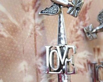 """""""Flight of love"""" earrings"""