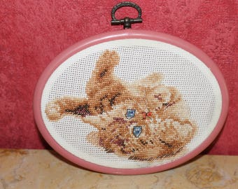 Playful kitten cross stitch