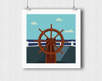 Boat bar poster