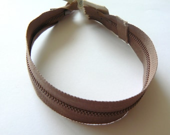 closure light taupe Brown 22cm zipper Filcolor No. 50-70's 80's
